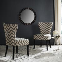 Safavieh En Vogue Dining Jappic Chevron Grey/White Ring Dining Chairs (Set of 2) - 0