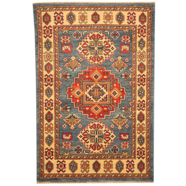 Herat Oriental Hand Tufted Wool Red Black Area Rug: Herat Oriental Afghan Hand-knotted Tribal Kazak Wool Rug