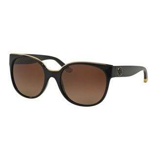 Tory Burch Women's TY9042 1312T5 Black Plastic Square Polarized Sunglasses