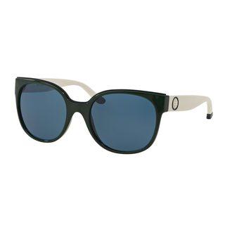 Tory Burch Women's TY9042 Green Plastic Square Sunglasses