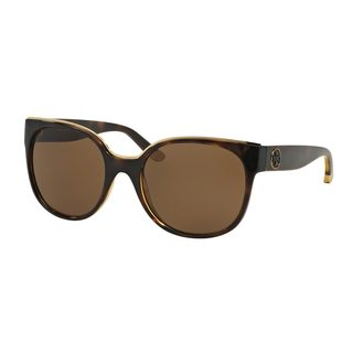 Tory Burch Women's TY9042 Tortoise Plastic Square Sunglasses