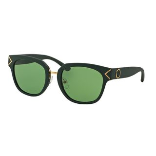 Tory Burch Women's TY9041 Green Plastic Square Sunglasses