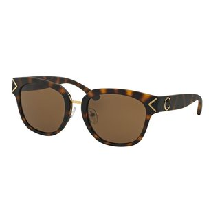 Tory Burch Women's TY9041 Tortoise Plastic Square Sunglasses