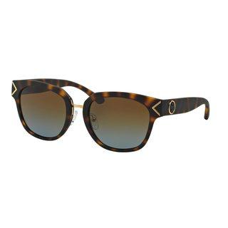 Tory Burch Women's TY9041 12941F Tortoise Plastic Square Polarized Sunglasses