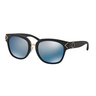 Tory Burch Women's TY9041 Blue Plastic Square Polarized Sunglasses