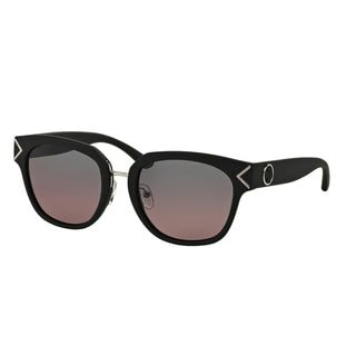 Tory Burch Women's TY9041 Black Plastic Square Polarized Sunglasses
