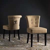 "Safavieh Sinclair Beige Ring Chairs (Set of 2) - 19.5"" x 24.2"" x 33.4"""
