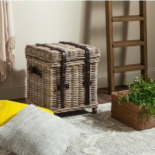 Safavieh Kacia Grey Natural Rattan Storage Trunk