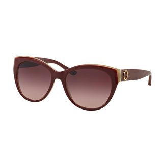 Tory Burch Women's TY7084 Red Plastic Cat Eye Sunglasses