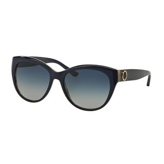 Tory Burch Women's TY7084 Navy Plastic Cat Eye Sunglasses