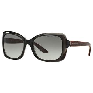 Ralph Lauren Women's RL8134 Black Plastic Square Sunglasses