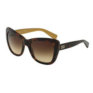 Dolce & Gabbana Women's DG4260 Tortoise Plastic Butterfly Sunglasses