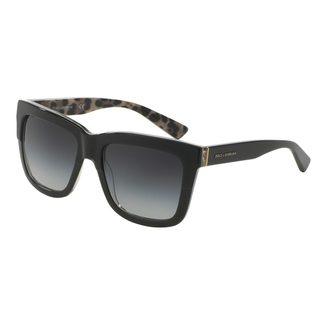 Dolce & Gabbana Women's DG4262 Black Plastic Square Sunglasses