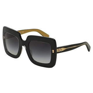 Dolce & Gabbana Women's DG4263 Black Plastic Square Sunglasses