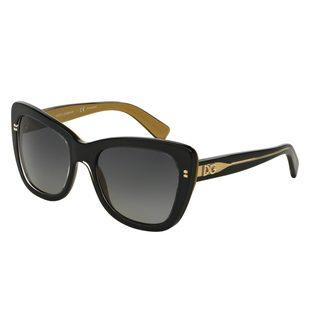 Dolce & Gabbana Women's DG4260 Black Plastic Butterfly Polarized Sunglasses