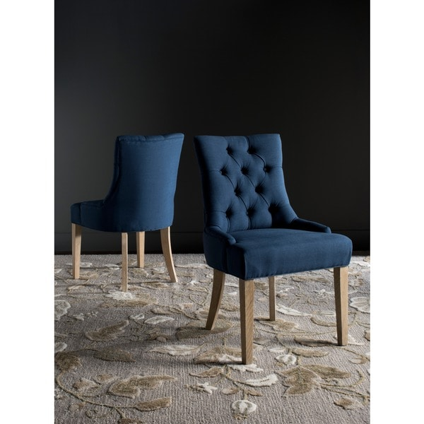 Safavieh En Vogue Dining Abby Steel Blue Chairs Set Of 2