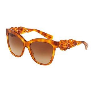 Dolce & Gabbana Women's DG4264 Tortoise Plastic Square Sunglasses