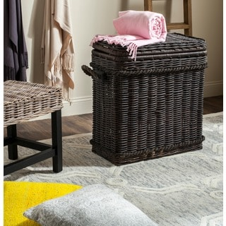 Safavieh Sidonie Dark Natural Rattan Storage Trunk