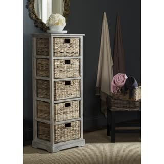 Safavieh Vedette Winter Melody 5-drawer Wicker Basket Storage Tower|https://ak1.ostkcdn.com/images/products/10857153/P17896378.jpg?impolicy=medium