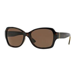 DKNY Women's DY4111 Tortoise Plastic Square Sunglasses