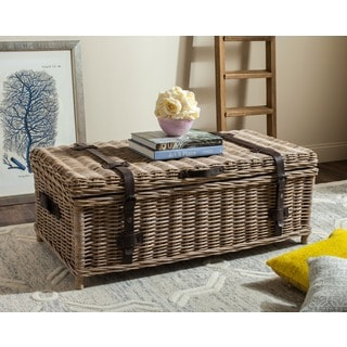 Safavieh Navarro Grey Natural Rattan Storage Trunk