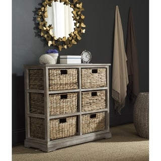 Safavieh Keenan Winter Melody 6-Drawer Wicker Basket Storage Chest