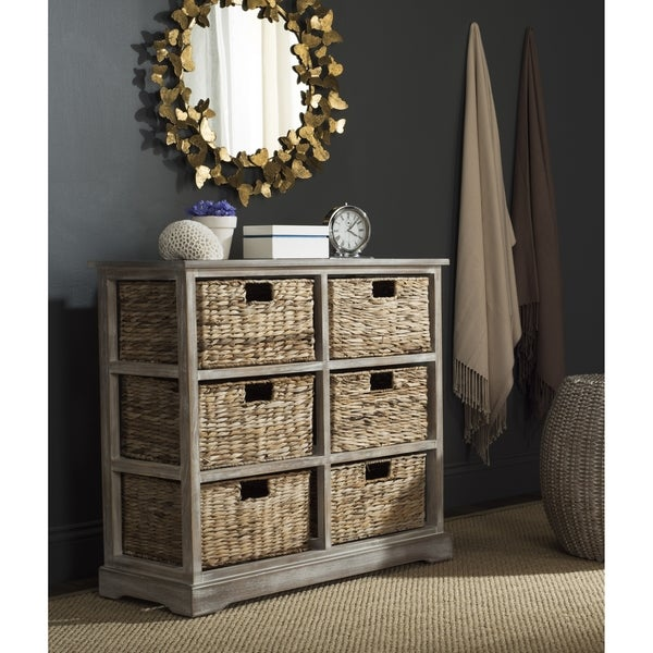 Safavieh Keenan Winter Melody 6 Drawer Wicker Basket Storage Chest