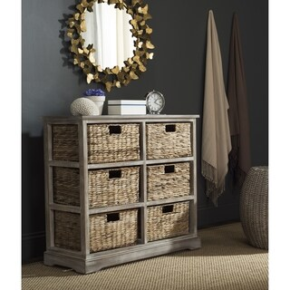 "Safavieh Keenan Winter Melody 6-Drawer Wicker Basket Storage Chest - 32.1"" x 13.4"" x 29.5"""