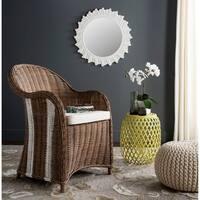 Safavieh Hemi Natural/ White Rattan Club Chair