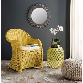 """Link to Safavieh Callista Yellow Rattan Club Chair - 24"""" x 26"""" x 35"""" Similar Items in Living Room Chairs"""