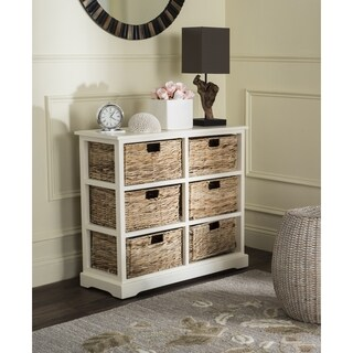Safavieh Keenan Distressed White 6-Drawer Wicker Basket Storage Chest|https://ak1.ostkcdn.com/images/products/10857176/P17896373.jpg?_ostk_perf_=percv&impolicy=medium