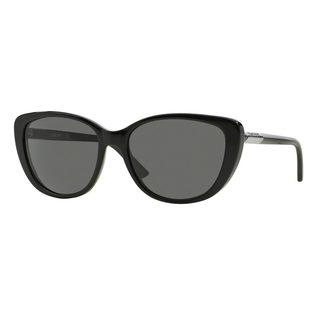 DKNY Women's DY4121 Black Plastic Cat Eye Sunglasses