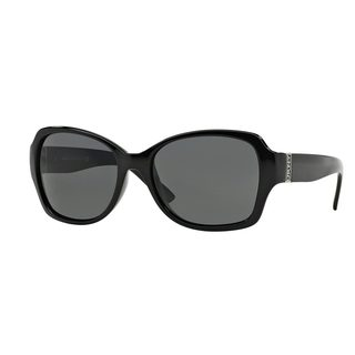 DKNY Women's DY4111 Black Plastic Square Sunglasses