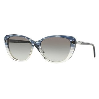 DKNY Women's DY4121 Grey Plastic Cat Eye Sunglasses