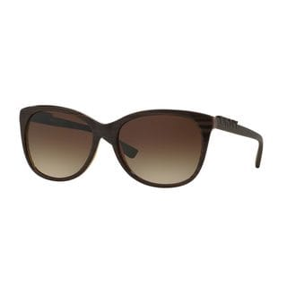 DKNY Women's DY4126 Brown Plastic Square Sunglasses