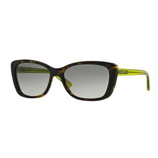 DKNY Women's DY4130 Green Plastic Cat Eye Sunglasses