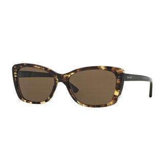 DKNY Women's DY4130 Tortoise Plastic Cat Eye Sunglasses