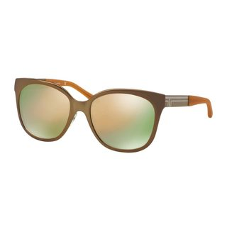 Tory Burch Women's TY6045 Gold Metal Square Sunglasses