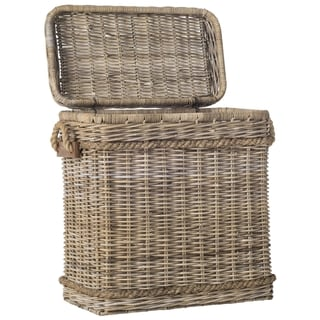 Safavieh Sidonie Grey Natural Rattan Storage Trunk