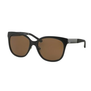 Tory Burch Women's TY6045 Black Metal Square Sunglasses