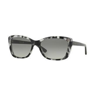 DKNY Women's DY4130 Grey Plastic Cat Eye Sunglasses
