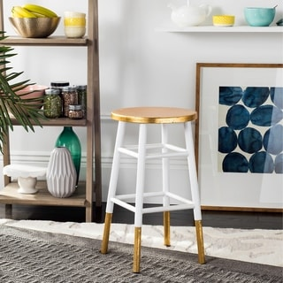 Safavieh 24-inch Emery White/Gold Counter Stool