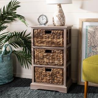 Safavieh Halle Winter Melody 3-Drawer Wicker Basket Storage Unit|https://ak1.ostkcdn.com/images/products/10857236/P17896633.jpg?impolicy=medium