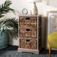 Safavieh Halle Winter Melody 3-Drawer Wicker Basket Storage Unit