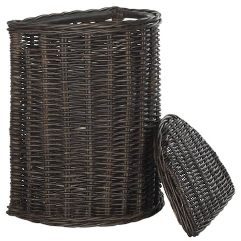 Safavieh Manzu Natural Rattan Brown Storage Hamper with Liners
