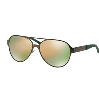 Tory Burch Women's TY6044 Pewter Metal Pilot Sunglasses