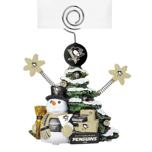 Pittsburgh Penguins Cast Porcelain Tree Photo Holder