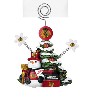 Chicago Blackhawks Cast Porcelain Tree Photo Holder