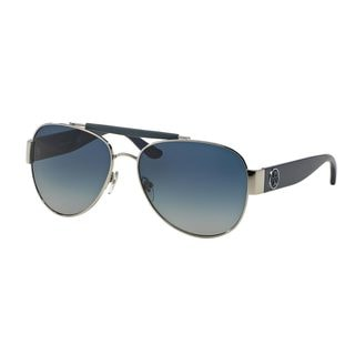 Tory Burch Women's TY6043Q Silver Metal Pilot Sunglasses