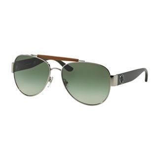 Tory Burch Women's TY6043Q Silver Metal Pilot Sunglasses